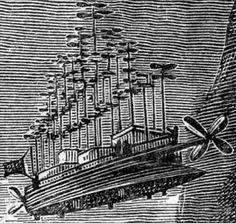 Jules Verne . Albatross Flying Ship . 1886