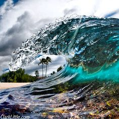 Clark Little Photography - Cold Hawaii day wave