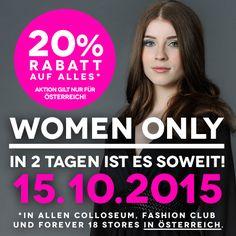 #GIRLS Time! Der Countdown läuft. Für alle unsere Fashionistas in Österreich, verpasst nicht unseren spezial Tag, den wir extra für Euch anbieten. #mycolloseum