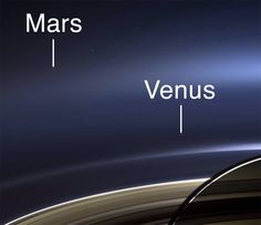 Venus from Cassini and Saturn on July 19, 2013.