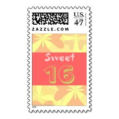 Sweet 16 Birthday Postage