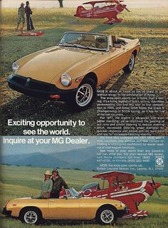 Vintage Automobile Advertising: 1977 MG-B by British Leyland, From Road and Track Magazine, June 1977.