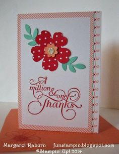 2014 Fun Stampin' with Margaret!  Sweet Saying Cards & Envelopes (Valentine products available until 1-27-14), Million and One sentiment, Pansy P...