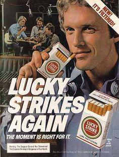 Vintage Tobacco Cigarette Ads #vintage  #cigarette  #pack www.tommyholiday.it