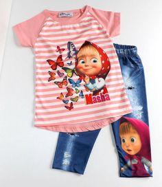 74-92 Sommer Outfit T.shirt und Leggings Baby Mädchen Set Gr.