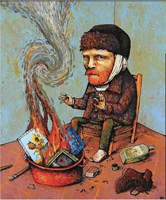 French Artist Dran - Van Gogh #illustration