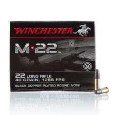 Winchester M-22 22 LR Ammo - 500 Rounds of 40 Grain CPRN Ammunition #Winchester #WinchesterAmmo #22LRAmmo #22LR #WinchesterM-22 #CPRN