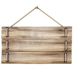 hanging wooden signs. Ideal for signs made from upcycled pallet boards!: