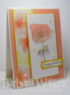 The Buzz: Happy Birthday card, featuring Stampin' Up! products and sequins from #prettypinkposh
