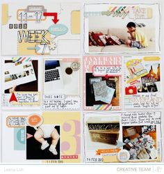 Week 7 left page using mainly @Studio Calico Snippets collection