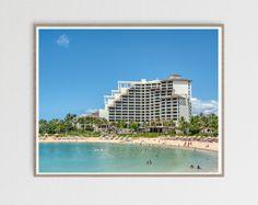 Hotel Decor, Beach Print, Photo Quality, Prints For Sale, Coastal Decor, Four Seasons, Oahu, Hotels And Resorts, Fine Art Photography