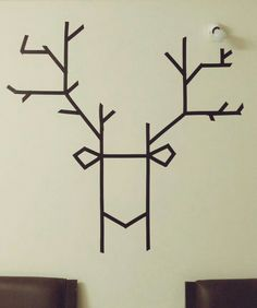 DIY electrical tape wall art