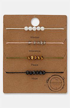 Topshop Beaded Bracelets (Set of 4) | Nordstrom