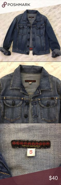 ✨EUC AG Adriano Goldschmied Essential Jean Jacket ✨EUC AG Adriano Goldschmied Essential Jean jacket.  Main button closure.  Two front chest pockets, button closure.  Button closure at cuffs.  Smoke free pet free home. Anthropologie Jackets & Coats Jean Jackets