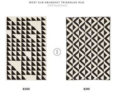 black and white triangle carpet at DuckDuckGo Black And White Carpet, Copy Cat Chic, Home Trends, Better Homes And Gardens, West Elm, Cozy House, Budget Travel, Abundance, Triangles
