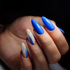 Hot Almond Shaped Nails Colors To Get You Inspired To Try - Nail Shapes Ideas - Nail Designs Journal Almond Nails Designs, Red Nail Designs, Acrylic Nail Designs, Almond Shaped Nail Designs, Art Designs, Design Ideas, Matte Nails, Blue Nails, Almond Shape Nails