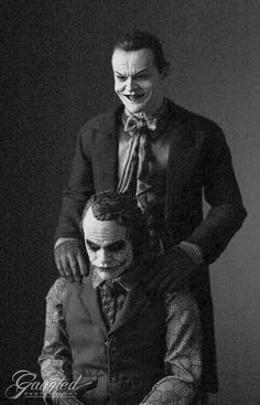 Keith Ledger and Jack Nickelson real jokers real picture Wow....