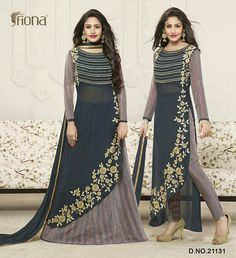 065b81af3f5 Anika ishqbaaz catlog Super hit design Top - Georgette Bottom- kasla Cotton  fancy+ santoon slices