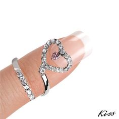 *Trend Alert* Knuckle Rings are hot right now.  Add a little bling with this ring! Available here: http://www.beautyonlinesupply.com/kiss-nail-artist-nail-jewelry-risk-taker.html