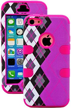 myLife Hot Pink + Black Argyle Plaid 3 Layer (Hybrid Flex Gel) Grip Case for New Apple iPhone 5C Touch Phone (External 2 Piece Full Body Defender Armor Rubberized Shell + Internal Gel Fit Silicone Flex Protector) myLife Brand Products http://www.amazon.com/dp/B00IV2NQY6/ref=cm_sw_r_pi_dp_2p8vub037RYQ9