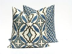 Hey, I found this really awesome Etsy listing at https://www.etsy.com/listing/159922095/blue-gray-pillow-set-of-two-16x16-throw