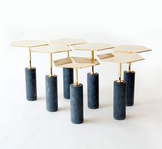 Designed by the Brooklyn based Egg Collective, Hawley side tables
