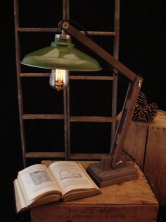 Industrial Desk Lamp by BenclifDesigns on Etsy, $149.00