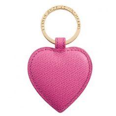 HEART KEY RING IN MAGENTA #3rd wedding anniversary gift ideas http://www.giftgenies.com/presents/heart-key-ring-in-magenta