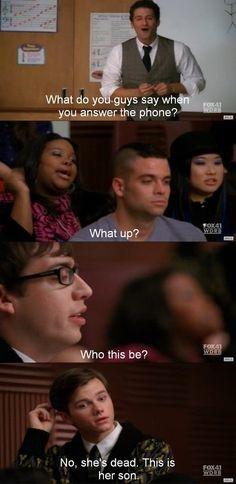Hahahahahahhahahahahahahahahahahahaaaaahahahahahahaha I love Glee<3
