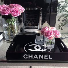 Fancy pink roses.