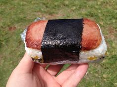 This is what I love to eat in Hawaii. Spam musubi!!