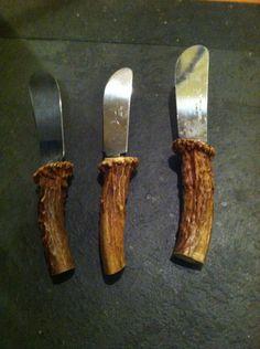 Handmade One of a Kind Deer Antler Handle Canapé knife . $12.00, via Etsy.