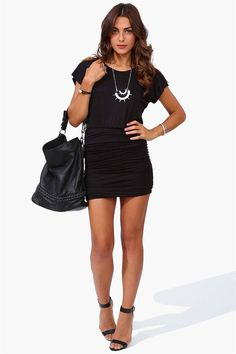 Jersey Dress in Black