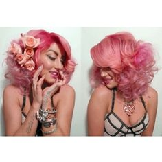 Neon Hitch's hair with MANIC PANIC Cotton Candy Pink. Gorgeous!