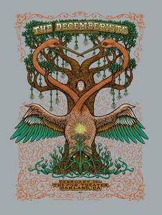The Decemberists – Oakland Poster Festival Posters, Concert Posters, Music Posters, The Decemberists, Psychedelic Bands, Pole Art, Concert Flyer, Pochette Album, Magazine Illustration