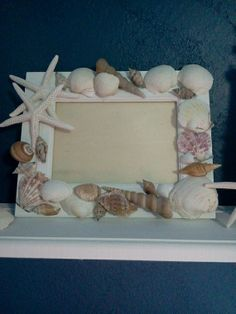 Nautical picture frame by Momsthisnthatshop on Etsy, $18.00