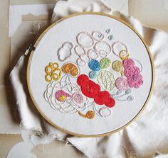 embroidery by valerieroybal, via Flickr