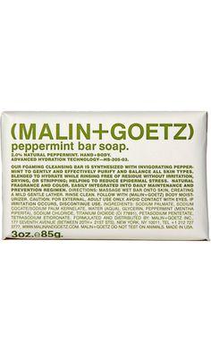 Book Report loves Malin+Goetz Peppermint Bar Soap.