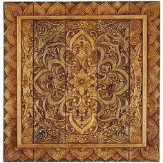 What should you put on that blank wall? Accent piece? Artwork? Conversation starter? We've squared the circle (er, medallion) for you with this panel. Hand-carved from Indonesian albasia wood, its detailed design provides everything a wall could want.