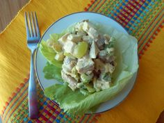 Curry Chicken Cashew Salad. This is a very simple salad to make: chicken, pineapple, grapes and celery. The dressing is made from Mayonnaise, Major Gray's Mango Chutney, Cream Sherry and Curry. This is easy to make and great even for parties!