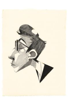 Portrait Illustration Profil on Behance - Man Illustration, Character Illustration, Illustration Styles, Portrait Illustration, Drawing Sketches, Art Drawings, Sketching, Arte Peculiar, Character Design References