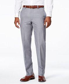 Calvin Klein Men's Neat Slim-Fit Dress Pants - Pants - Men - Macy's