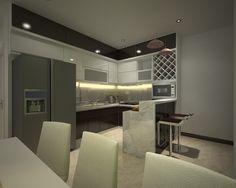 thiết kế và thi công phòng BẾP căn hộ Era Đức Khải. viphomes.vn/