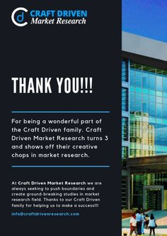 We're celebrating 3 successful years of Craft Driven! It's our anniversary! 3 years ago, today a company was initiated Craft Driven Market Research, a boutique market research firm focused on igniting the businesses, industries and startups to grow.