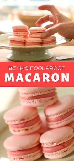 Learn how to make a foolproof macaron using my 6 foolproof tips! A great cookie recipe for Valentines Day or Baby or bridal showers! - The ingredients and how to make it please visit the website Best Dessert Recipe Ever, Best Easy Dessert Recipes, Dessert Recipes With Pictures, Quick Easy Desserts, Sweets Recipes, Quick Recipes, Recipes Dinner, Delicious Desserts, Breakfast Recipes