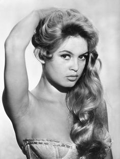 """A young Brigitte Bardot.around the time of her movie .""""The Girl in the Bikini"""" . Brigitte Bardot, Bridget Bardot, Classic Actresses, Beautiful Actresses, Classic Hollywood, Old Hollywood, Hollywood Stars, Jacques Charrier, And God Created Woman"""