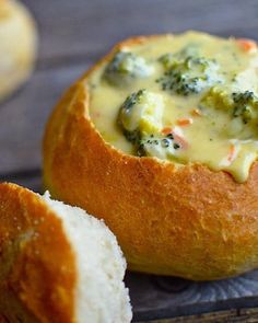 Broccoli Cheddar bread bowl
