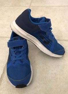 6e1ff3cdf57 Nike Blue And Black Boys Downshifters Size 1Y  fashion  clothing  shoes   accessories