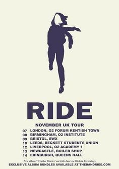 Ride Announce UK Tour Dates For NovemberWithGuitars