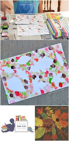 Fingerprint Fall Leaf Art Project - Leaf Man Book Extension